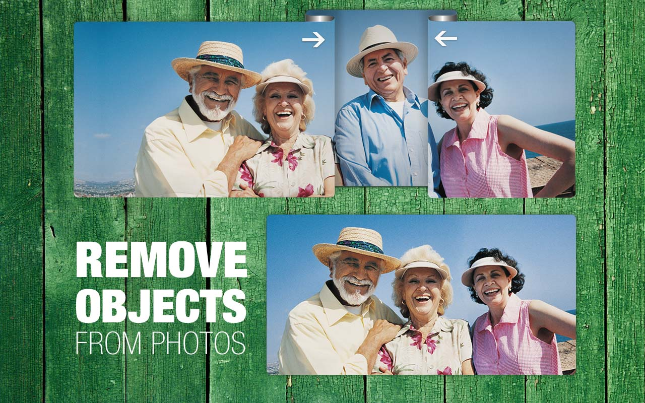 Remove objects from image like you'd fold a paper photo