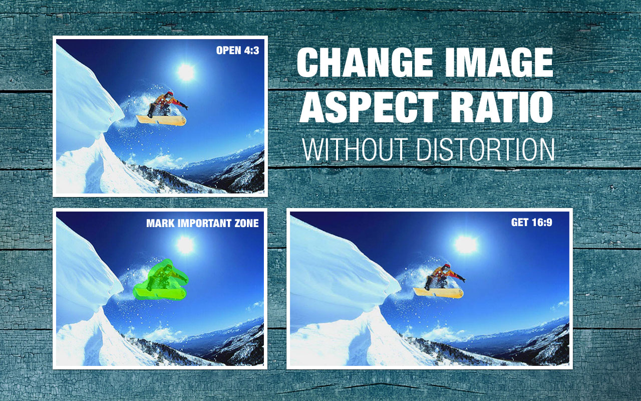 Change image aspect rate without distortion