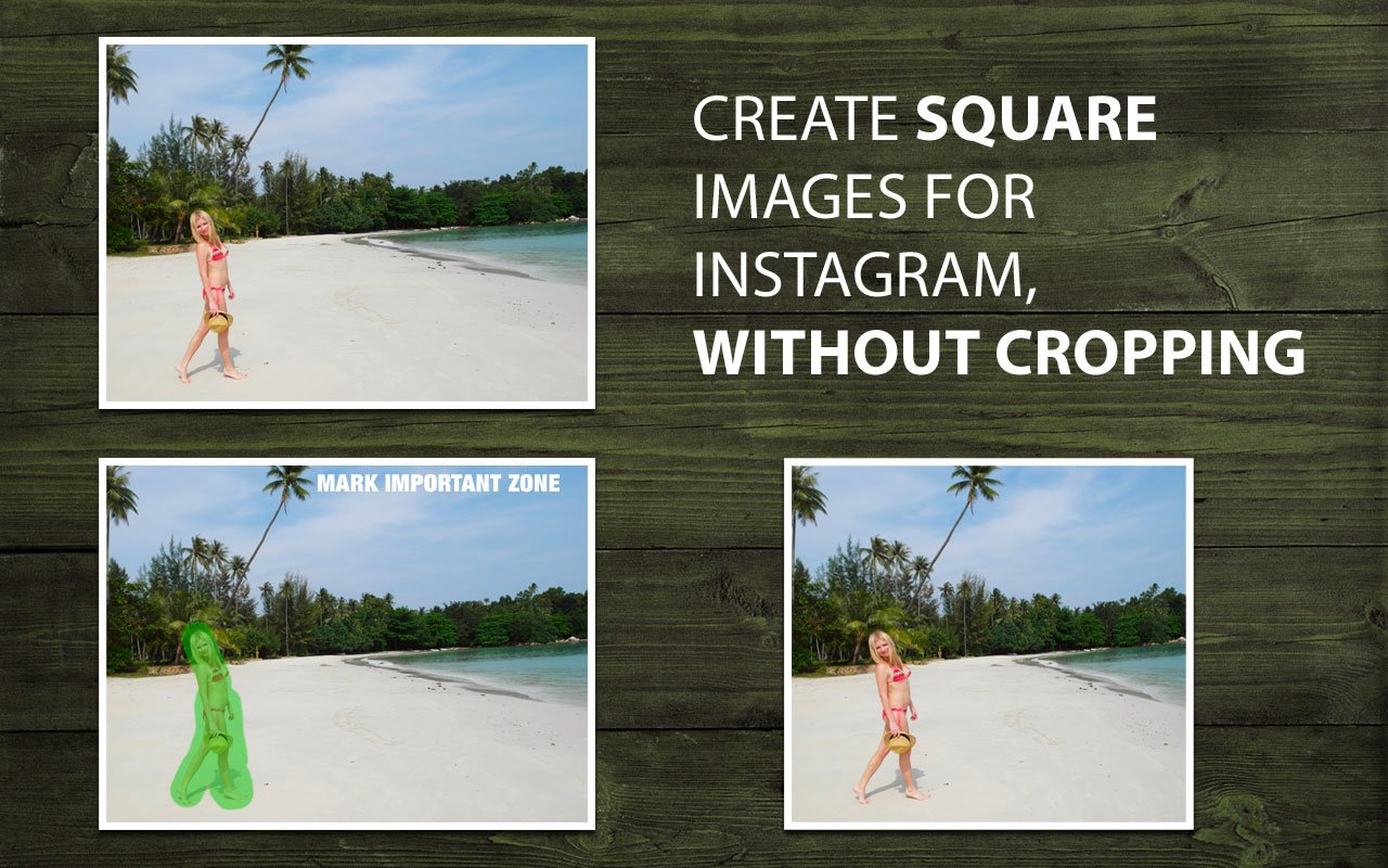 Create square images for Instagram without cropping